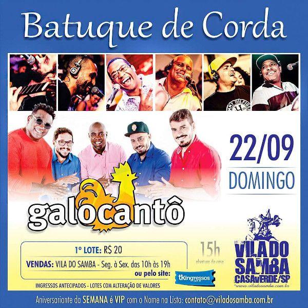 Batuque de Corda + Galocantô - 22/09/19 - São Paulo - SP