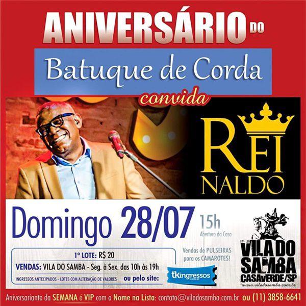 Batuque de Corda Convida Reinaldo - 28/07/19 - São Paulo - SP