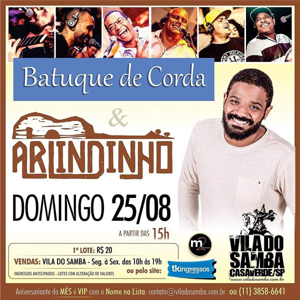 Batuque de Corda e Arlindinho - Vila do Samba - 25/08/19 - São Paulo - SP