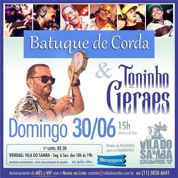 Batuque de Corda e Toninho Geraes - 30/06/19 - São Paulo - SP