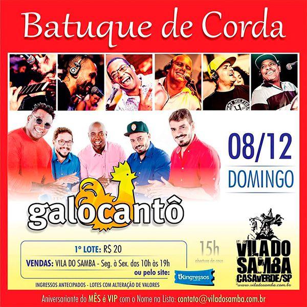 Batuque de Corda - Vila do Samba - 08/12/19 - São Paulo - SP