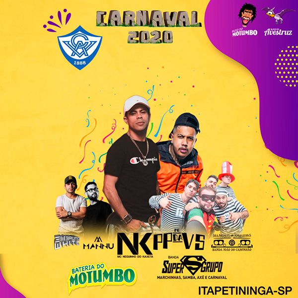 Blocos do Avestruz e Motumbo Carnaval 2020 - Sábado -  22/02/20 - Itapetininga - SP
