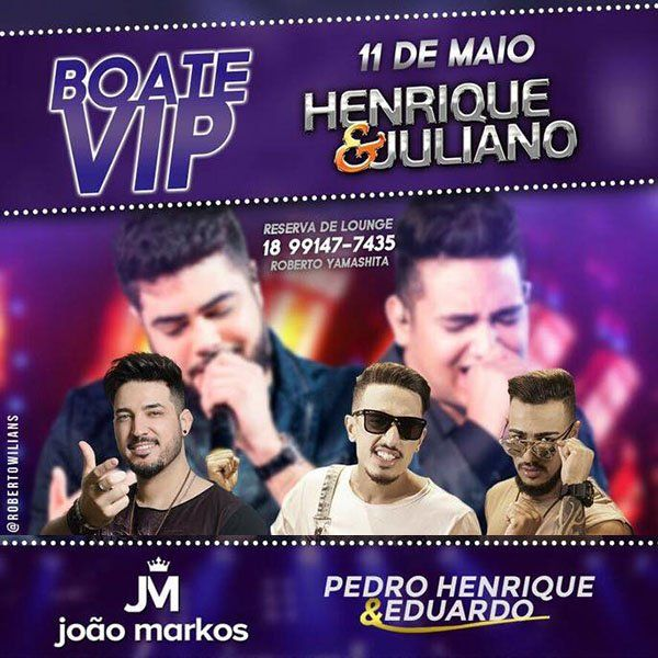 Boate Vip Folks Henrique & Juliano - 11/05/18 - Presidente Prudente - SP