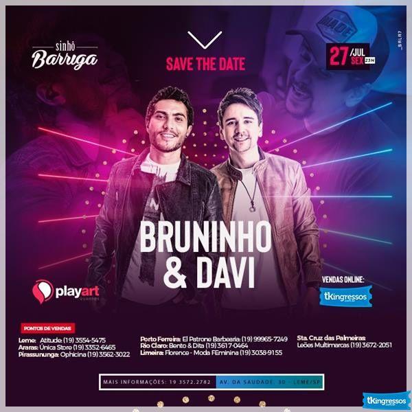 Bruninho & Davi - Sinhô Barriga - 27/07/18 - Leme - SP