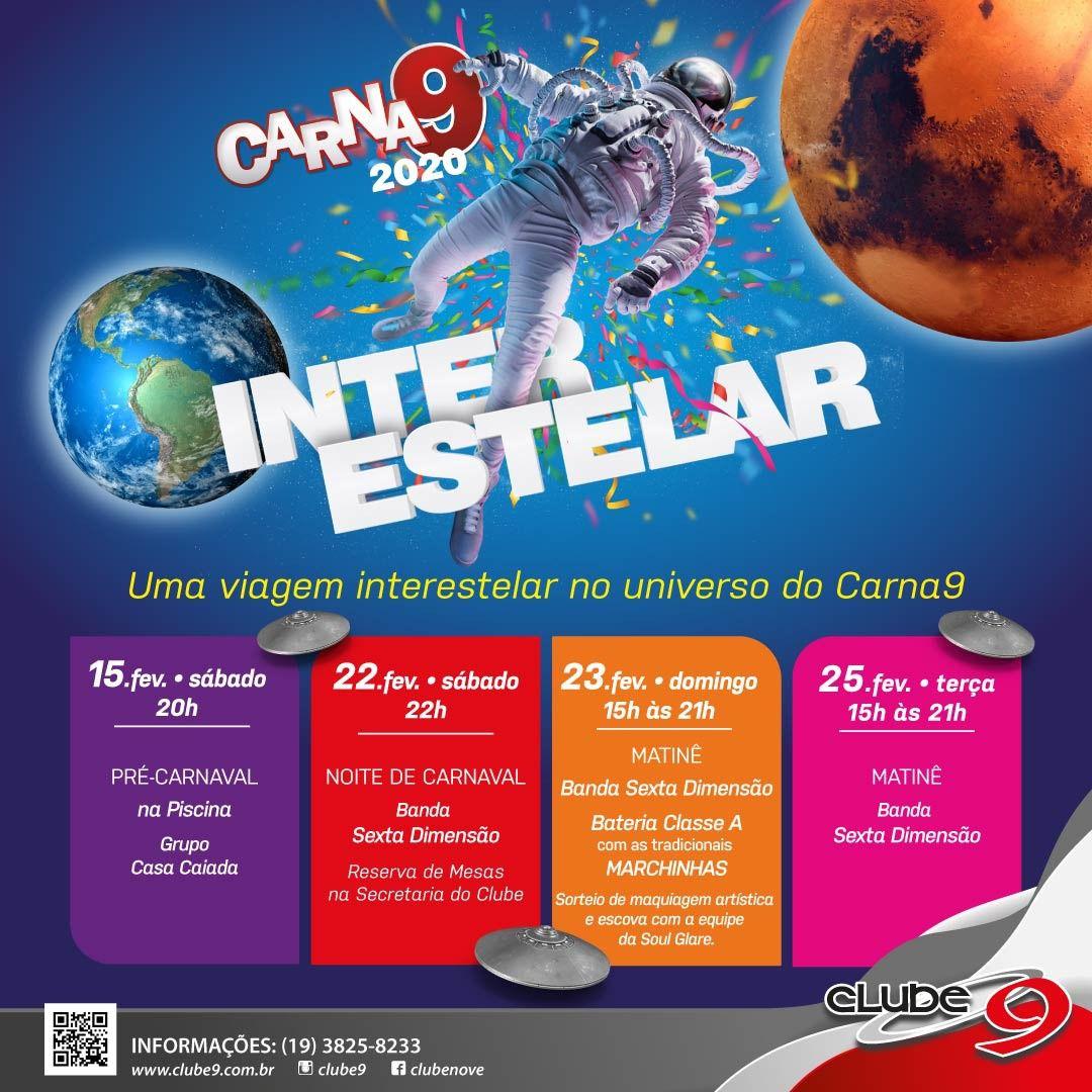 Carna9 - Inter Estelar - 3ª Feira - 25/02/20 - Indaiatuba - SP