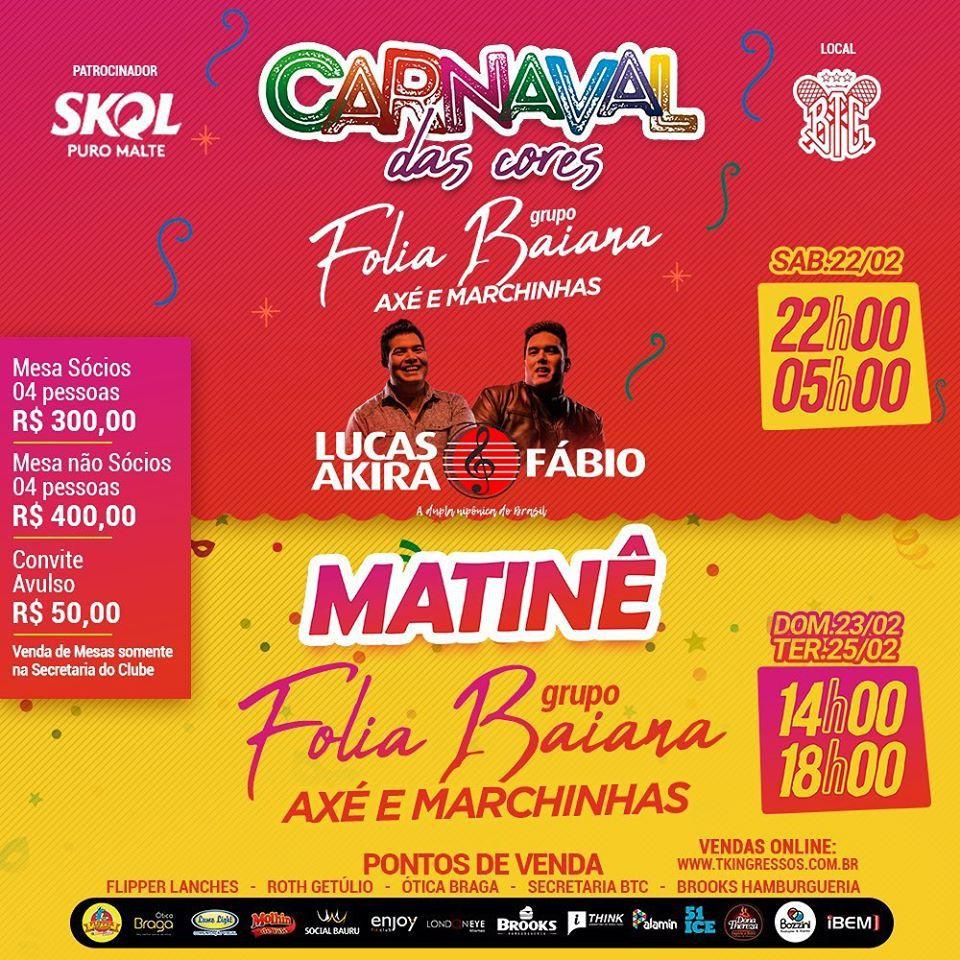Carnaval das Cores - Domingo - 23/02/20 - Bauru - SP
