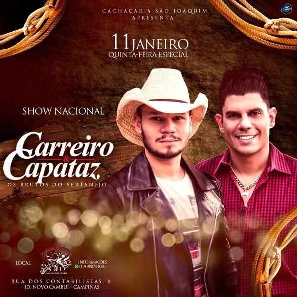 Carreiro & Capataz - 11/01/18 - Campinas - SP