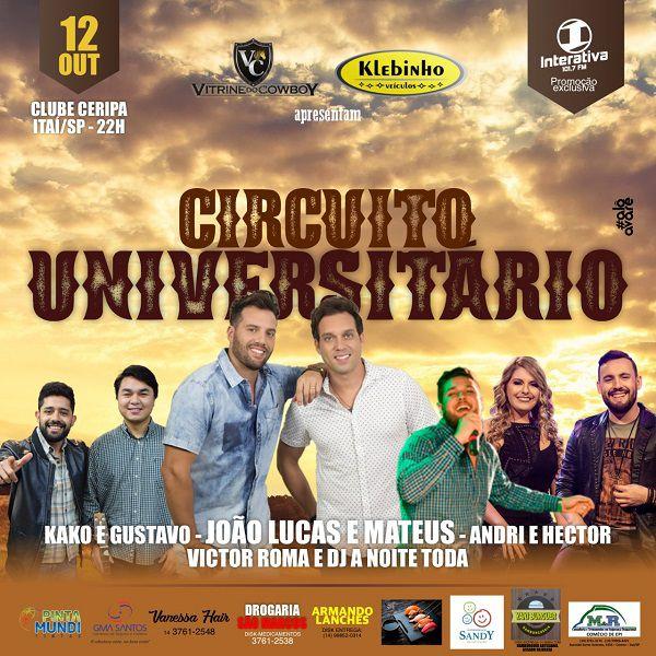 Circuito Universitário - 12/10/19 - Itaí - SP