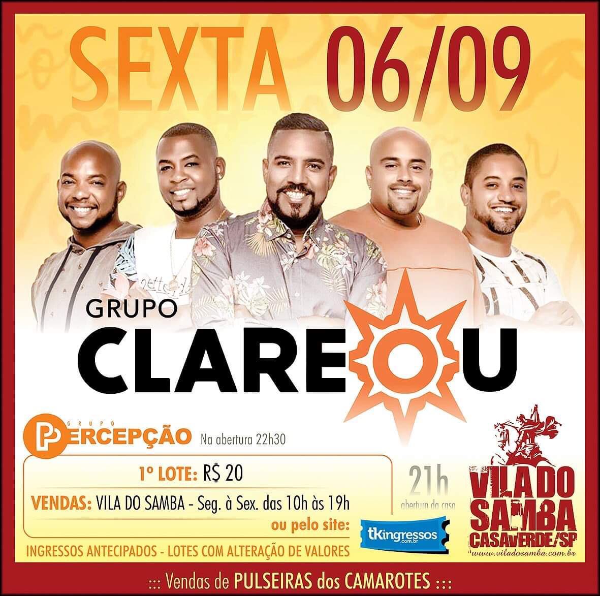 Clareou - Vila do Samba - 06/09/19 - São Paulo - SP