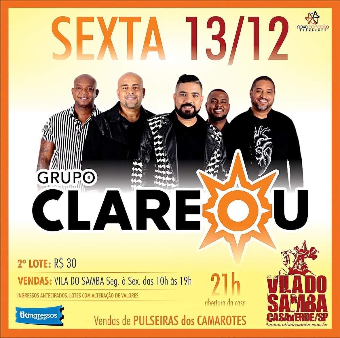 Clareou - Vila do Samba - 13/12/19 - São Paulo - SP