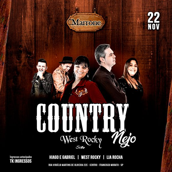 Countrynejo - 22/11/19 - Francisco Morato - SP