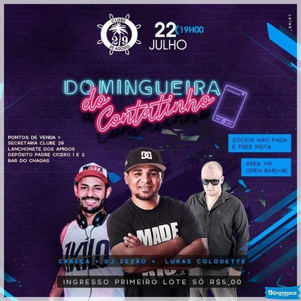 Domingueira do Contatinho - 22/07/18 - Leme - SP