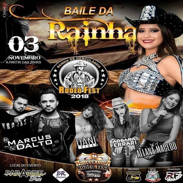 Escolha da Rainha Herculândia Rodeo Fest 2018 - 03/11/18 - Herculândia - SP
