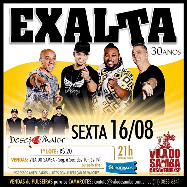 Exalta - Vila do Samba - 16/08/19 - São Paulo - SP