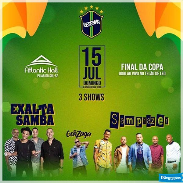 Exaltasamba e Samprazer - Atlantic Hall - 15/07/18 - Pilar do Sul - SP