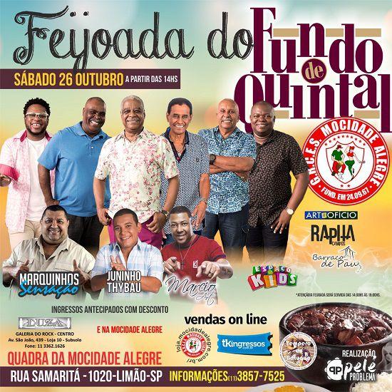 Feijoada da Mocidade - Fundo de Quintal - 26/10/19 - São Paulo - SP
