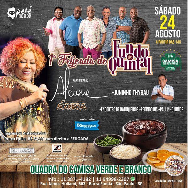 Feijoada do Fundo de Quintal - Camisa Verde e Branco - 24/08/19 - São Paulo - SP