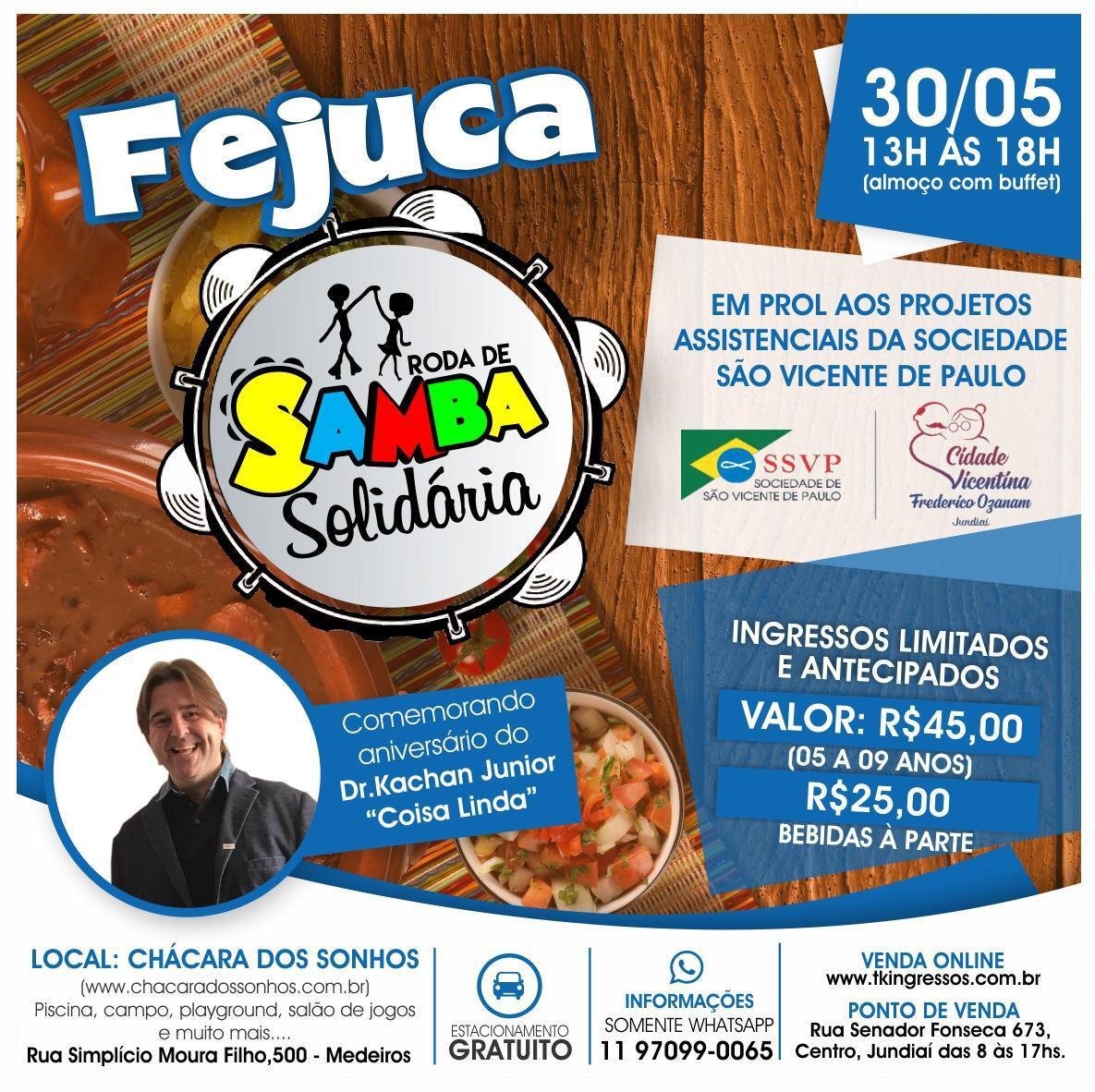 Fejuca Roda de Samba Solidária - 30/05/20 - Jundiaí - SP