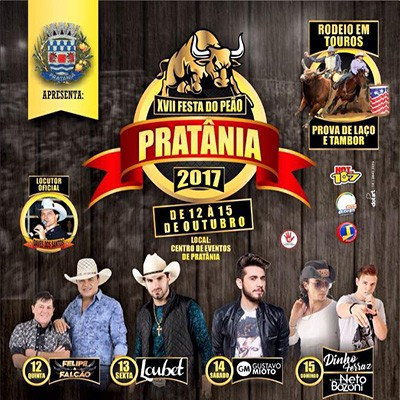 Festa do Peão - 12 a 15/10/17 - Pratânia - SP
