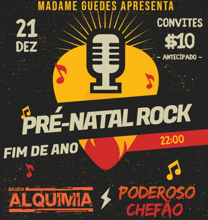 Festa Pré Natal Rock - Bar Madame Guedes - 21/12/18 - Assis - SP