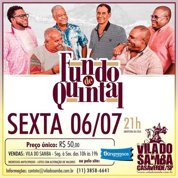 Fundo de Quintal - 06/07/18 - São Paulo - SP