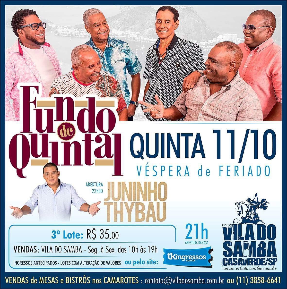 Fundo de Quintal - Vila do Samba - 11/10/18 - São Paulo - SP
