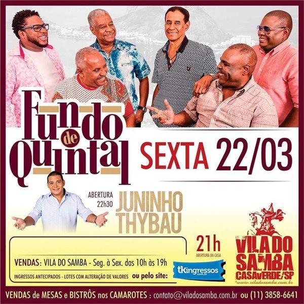 Fundo de Quintal - Vila do Samba - 22/03/19 - São Paulo - SP