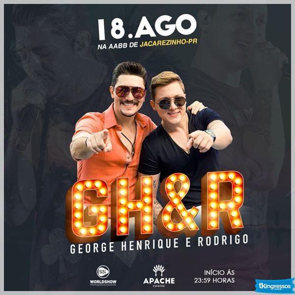 George Henrique & Rodrigo - 18/08/18 - Jacarezinho - PR