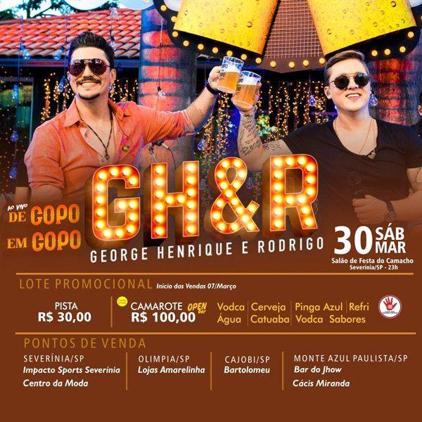 George Henrique & Rodrigo - 30/03/19 - Severínia - SP