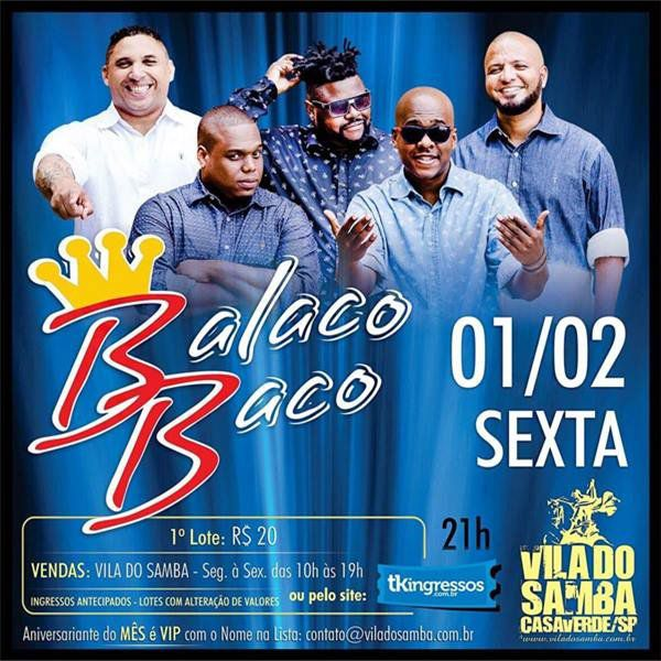 Grupo BalacoBaco - Vila do Samba - 01/02/19 - São Paulo - SP
