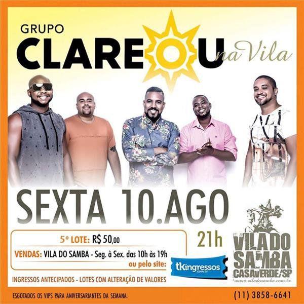 Grupo Clareou - 10/08/18 - São Paulo - SP