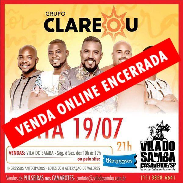 Grupo Clareou - Vila do Samba - 19/07/19 - São Paulo - SP