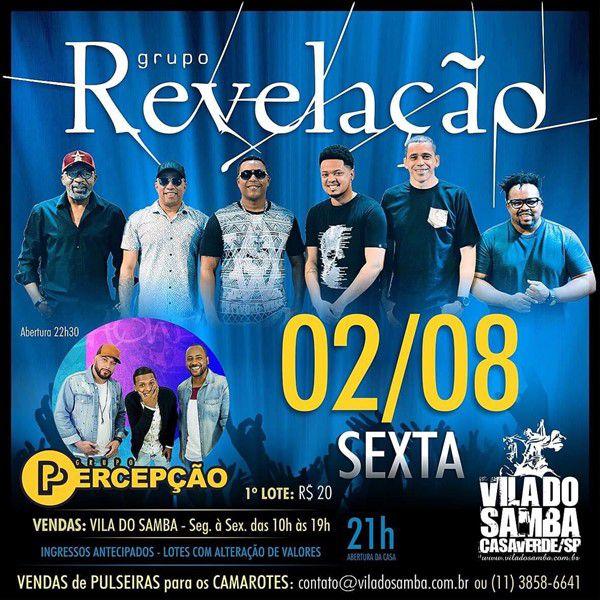 Grupo Revelação - Vila do Samba - 02/08/19 - São Paulo - SP