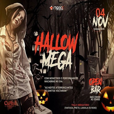 HallowMega Open Bar - 04/11/17 - Santos - SP