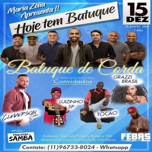 Hoje Tem Batuque - Batuque de Corda - 15/12/18 - São Paulo - SP