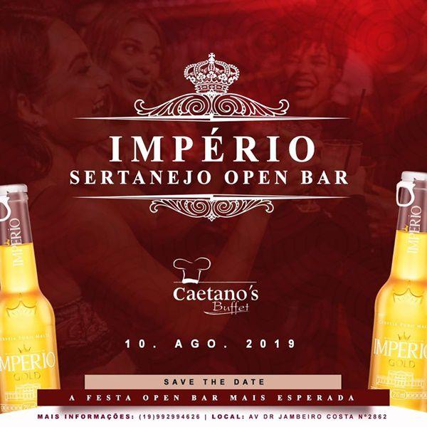 Império Sertanejo Open Bar - 10/08/19 - Leme - SP