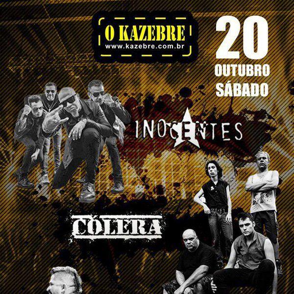 Inocentes - Colera - Vespas - O Kazebre - 20/10/18 - São Paulo - SP