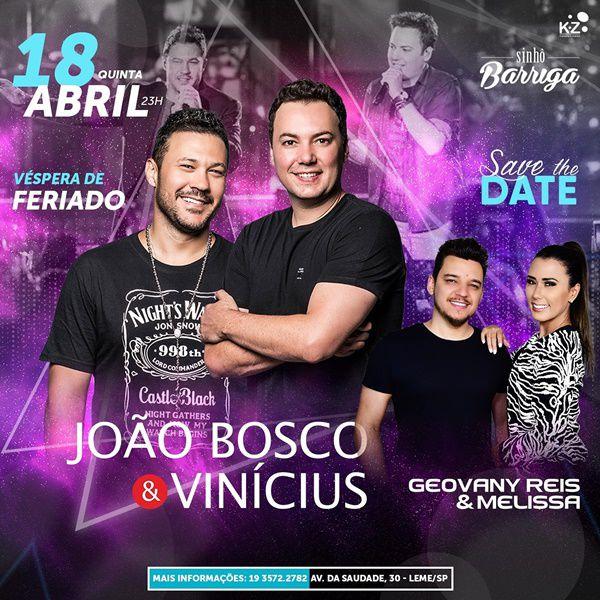 João Bosco & Vinícius - Sinhô Barriga - 18/04/19 - Leme - SP