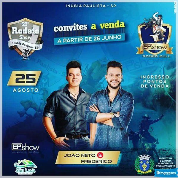 João Neto & Frederico - 25/08/18 - Inúbia Paulista - SP