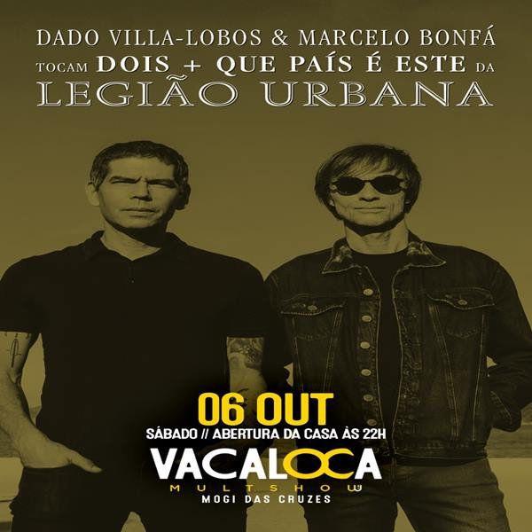 Legião Urbana - Vacaloca Multshow - 06/10/18 - Mogi das Cruzes - SP