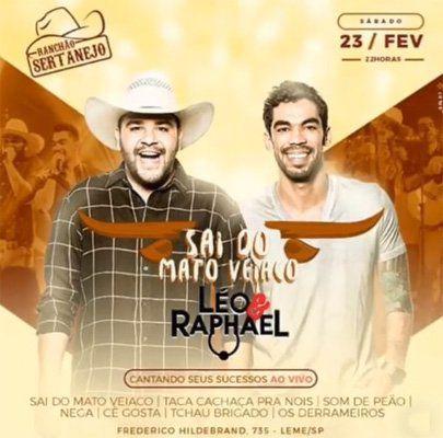 Léo & Raphael - Ranchão Sertanejo - 23/02/19 - Leme - SP
