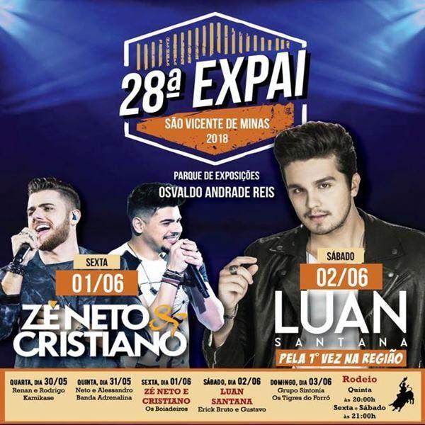 Luan Santana - 28ª EXPAI - 02/06/18 - São Vicente de Minas - MG