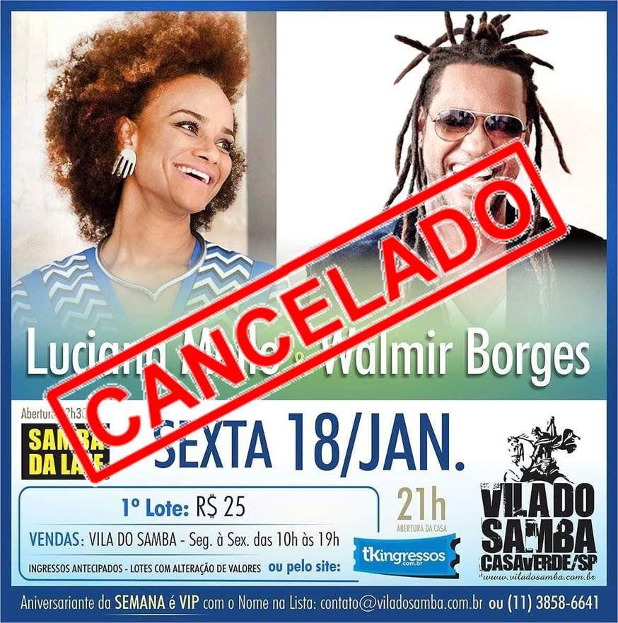 Luciana Mello e Walmir Borges - Vila do Samba - 18/01/19 - São Paulo - SP