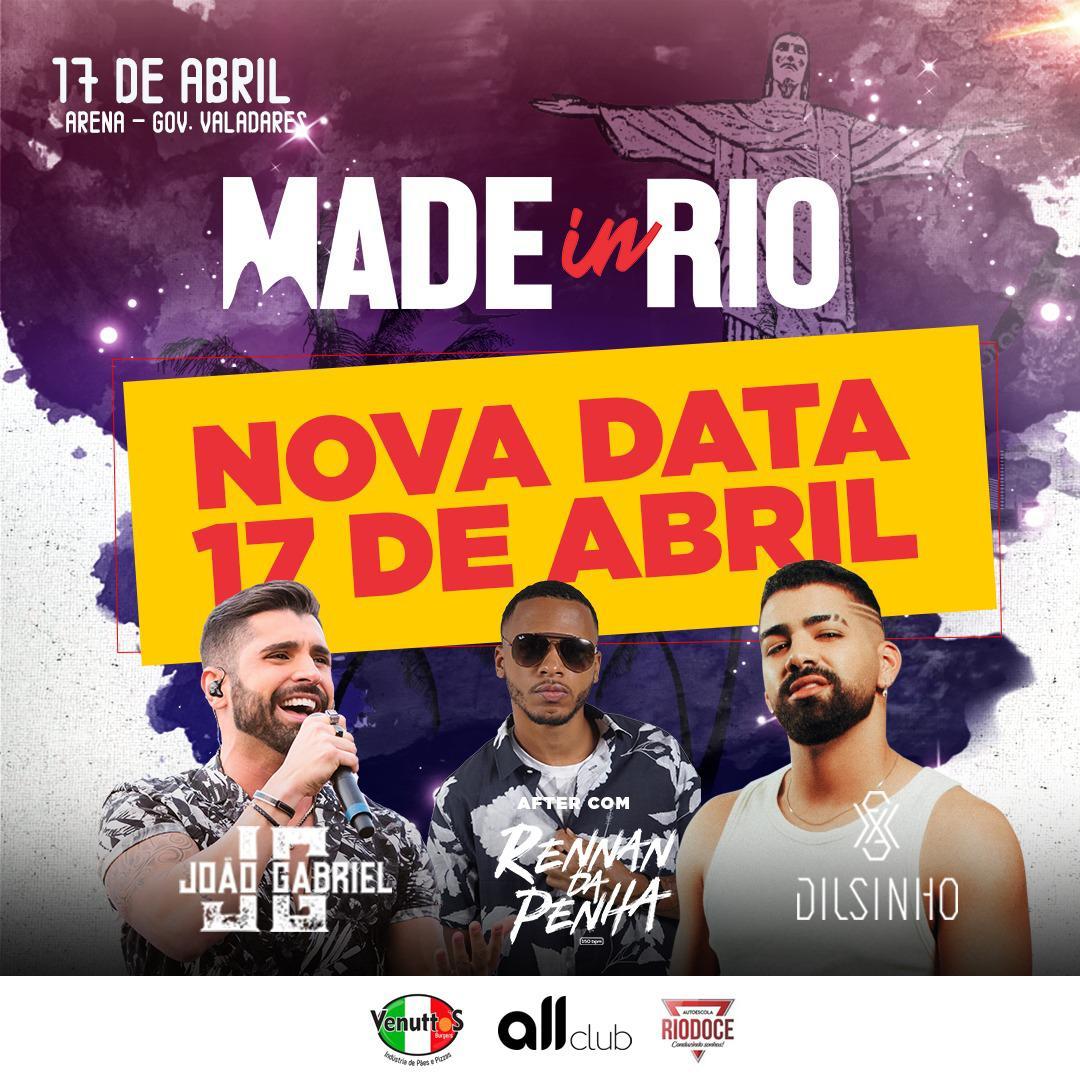 Made in Rio - Dilsinho - 17/04/20 - Governador Valadares - MG