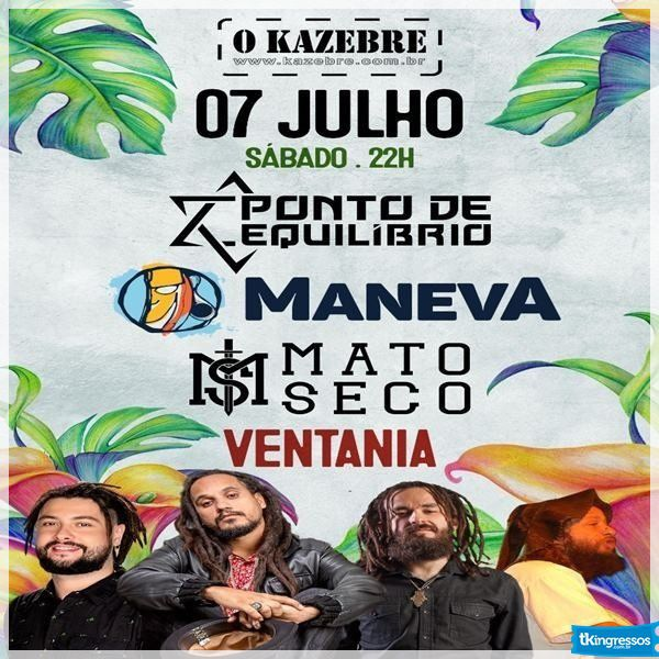 Maneva+Ponto de Equilíbrio+Mato Seco - O Kazebre - 07/07/18 - São Paulo - SP