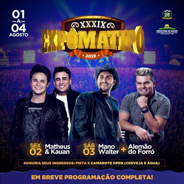 Mano Walter - Expo Matipó 2019 - 03/08/19 - Matipó - MG