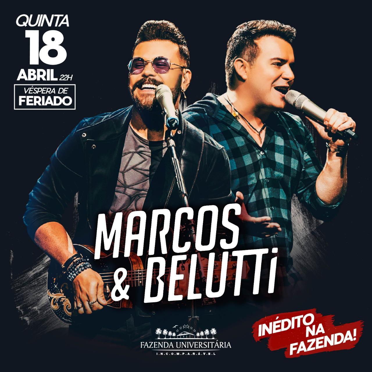 Marcos & Belutti - Fazenda Universitária - 18/04/19 - Suzano -  SP