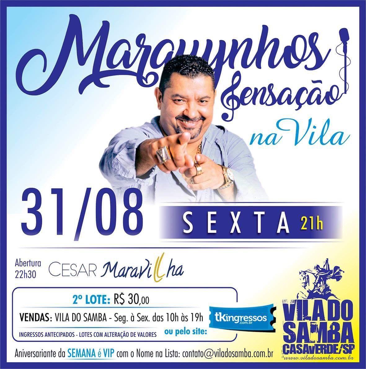 Marquinhos Sensação - Vila do Samba - 31/08/18 - São Paulo - SP