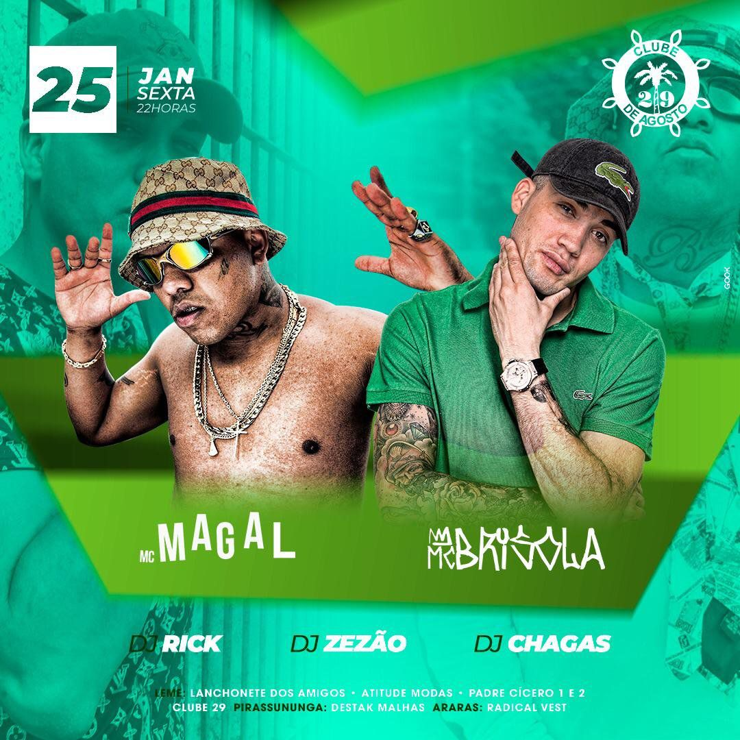 MC Brisola e MC Magal - 25/01/19 - Leme - SP