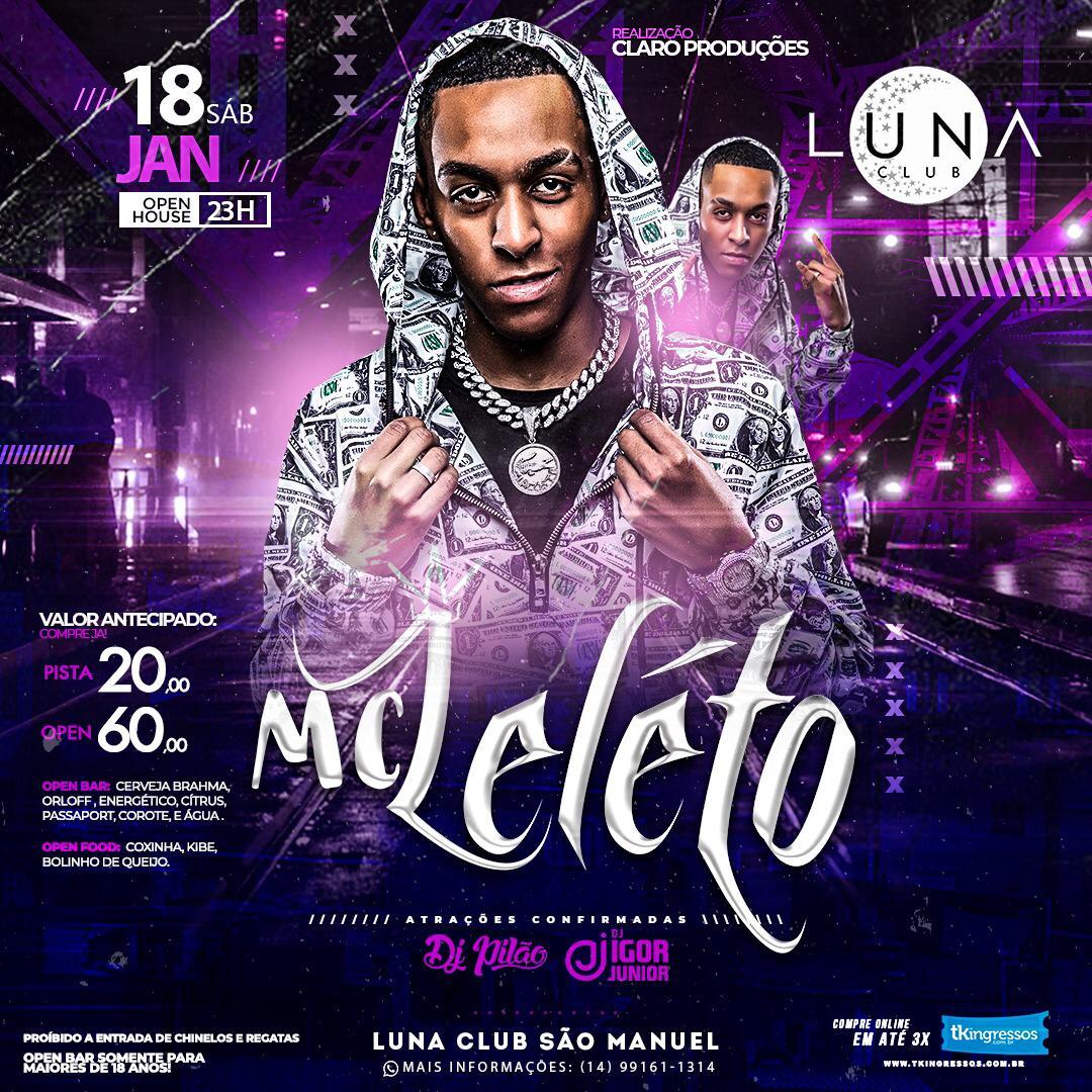 MC Leleto - 18/01/20 - São Manuel - SP